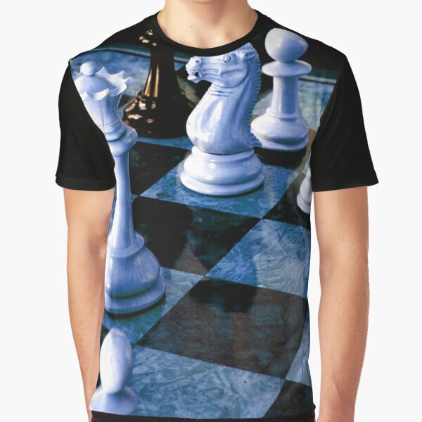 Chess Board King Knight Graphic T-Shirt
