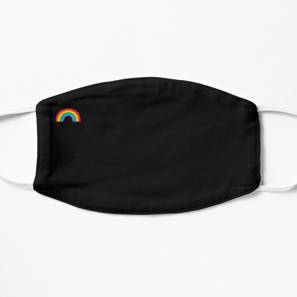 Rainbow on Black Background  Flat Mask