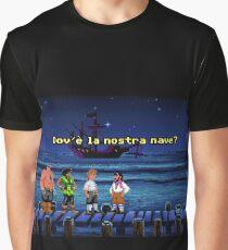 Dov'è la nostra nave? (Monkey Island 1) Graphic T-Shirt