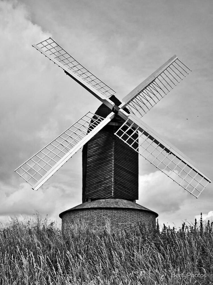 B&W Brill Windmill - 11/07/2009 by BertyPhotos