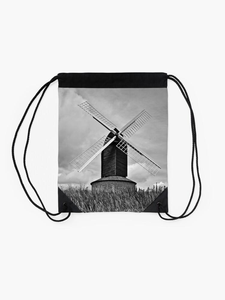 Alternate view of B&W Brill Windmill - 11/07/2009 Drawstring Bag
