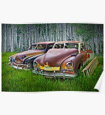 Vintage Frazer Auto Wrecks Poster