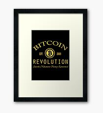 Bitcoin Revolution Framed Print