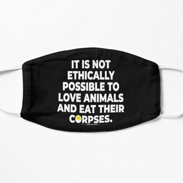Vegan Activist Graphics #takingblindfoldsoff 14 Flat Mask