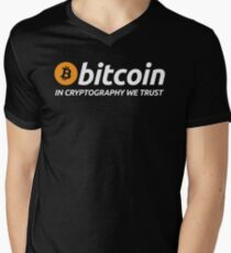 Bitcoin In Cryptography We Trust Men's V-Neck T-Shirt
