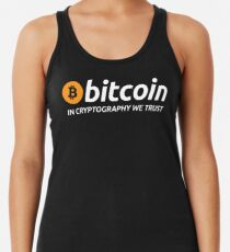 Bitcoin In Cryptography We Trust Racerback Tank Top