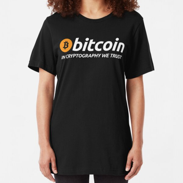 Bitcoin In Cryptography We Trust Slim Fit T-Shirt