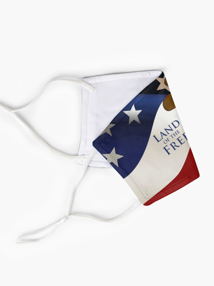 Alternate view of USA Face Mask Mask