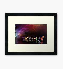 Earthworm Jim pixel art Framed Print