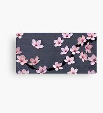 Triangulated Cherry Blossoms Canvas Print