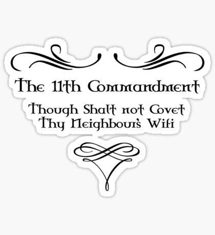 The 11th Commandment Sticker