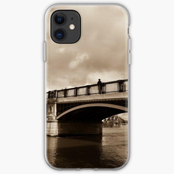 Bridge on river Thames in Windsor, UK iPhone Soft Case