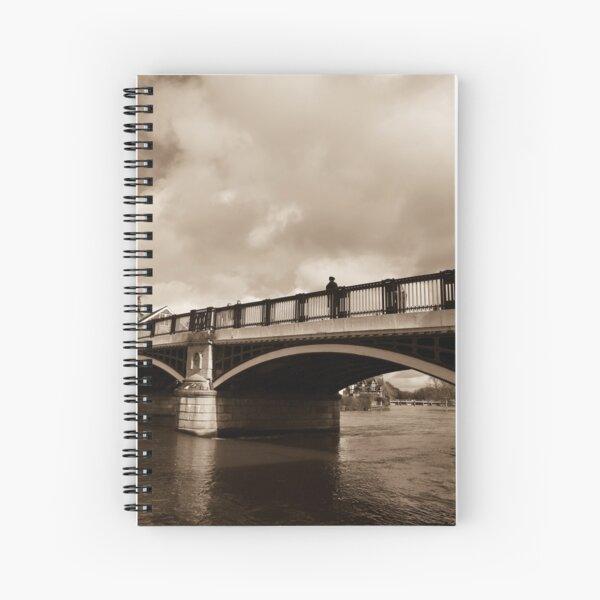Bridge on river Thames in Windsor, UK Spiral Notebook