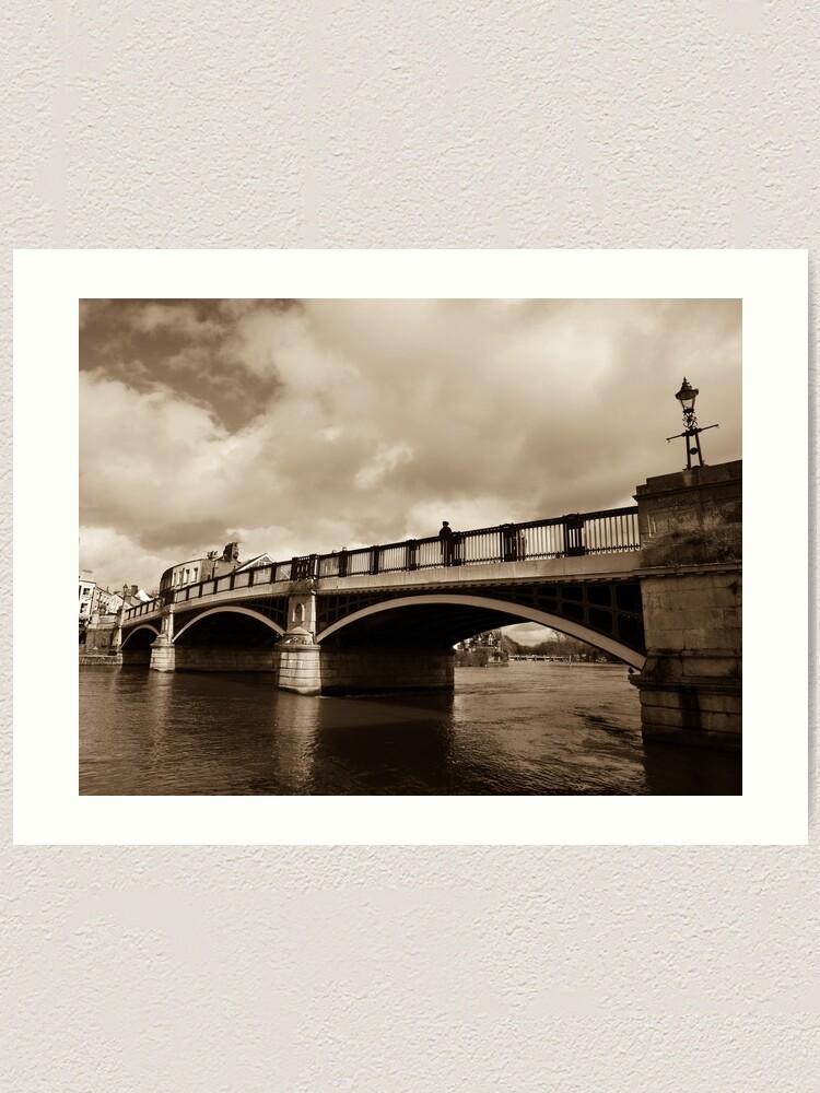 Alternate view of Bridge on river Thames in Windsor, UK Art Print
