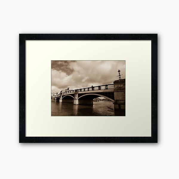 Bridge on river Thames in Windsor, UK Framed Art Print