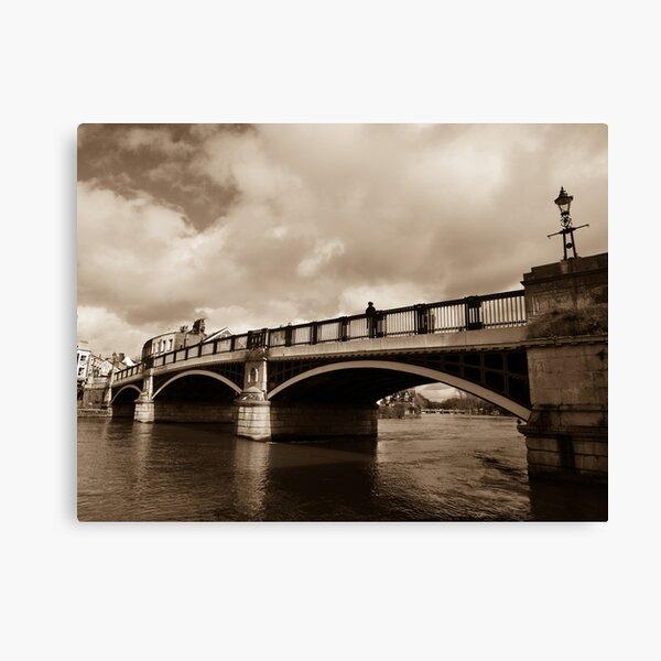 Bridge on river Thames in Windsor, UK Canvas Print