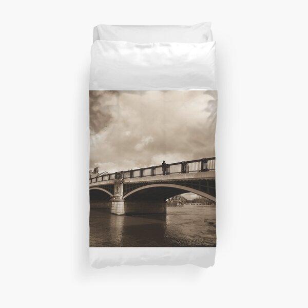 Bridge on river Thames in Windsor, UK Duvet Cover