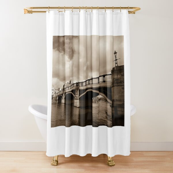 Bridge on river Thames in Windsor, UK Shower Curtain