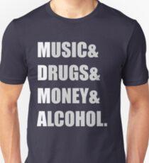 MDMA - Music & Drugs & Money & Alcohol  T-Shirt