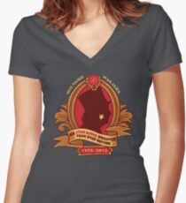 His Star-Burns Bright Women's Fitted V-Neck T-Shirt