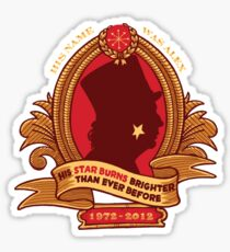 His Star-Burns Bright Sticker