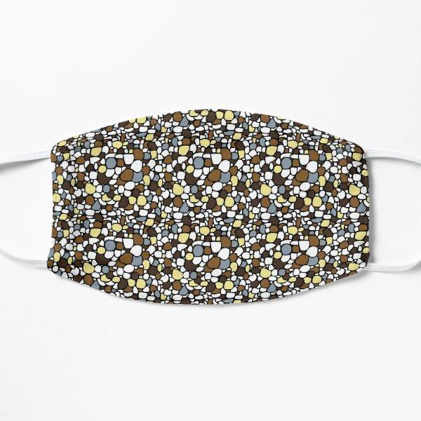 Brown Pebbles Flat Mask
