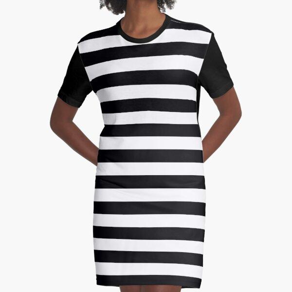 leo • theo | Black stripes  Graphic T-Shirt Dress