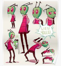 Invader Zim Drawing Posters