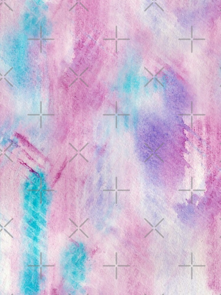 sporty watercolor texture pink and turquoise by nobelbunt