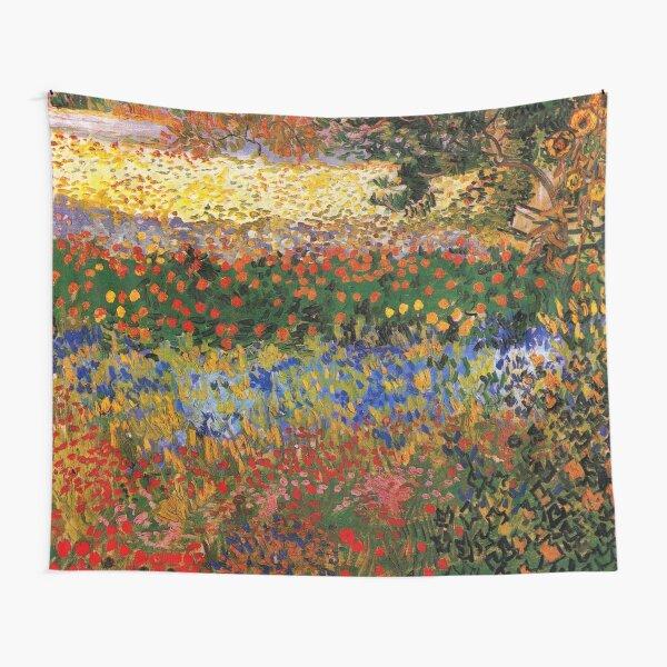 Jardín en flor, Arles, 1888, Vincent van Gogh Tela decorativa