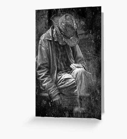 The Wandering Man Greeting Card