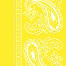 Yellow and White Paisley Bandana   by ShowYourPRIDE