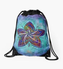 Ghost flowers Drawstring Bag