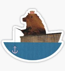 Cheltenham the Bear: Fishing Trip Sticker