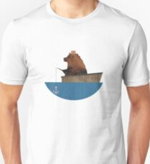 Cheltenham the Bear: Fishing Trip Unisex T-Shirt