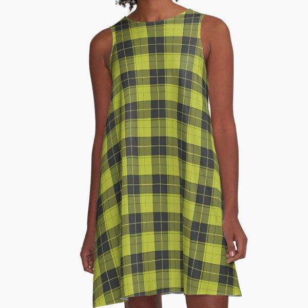 Simple tartan pattern in light yellow A-Line Dress