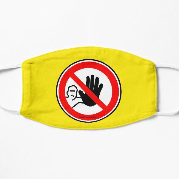 GEH WEG!   ABSTAND HALTEN! Flache Maske