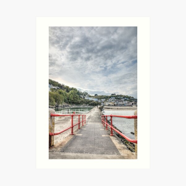 Looking Back, Looe Art Print