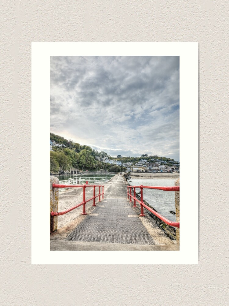 Alternate view of Looking Back, Looe Art Print