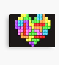 Tetris heart Canvas Print