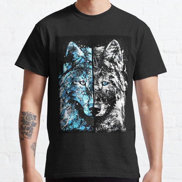 """Loup """"Bleu glacier, blanc glaçon"""" T-shirt classique"""