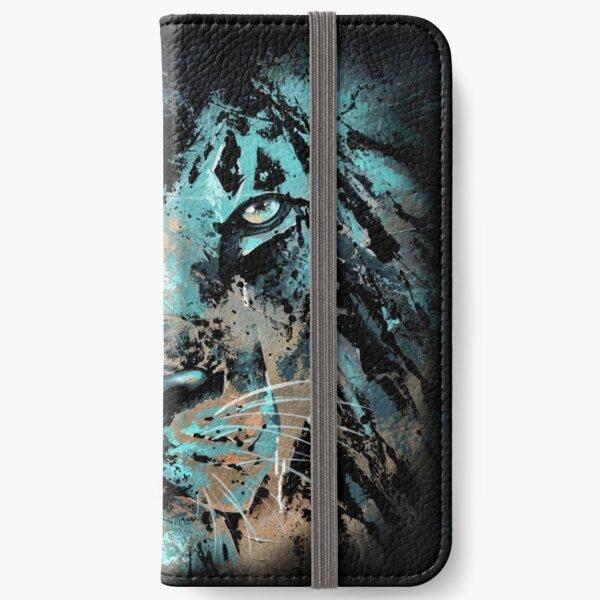 """Lion """"Les couleurs du silence"""" Étui portefeuille iPhone"""
