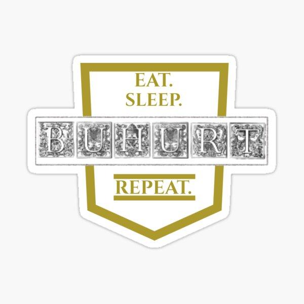 Eat, sleep, BUHURT, repeat. Sticker
