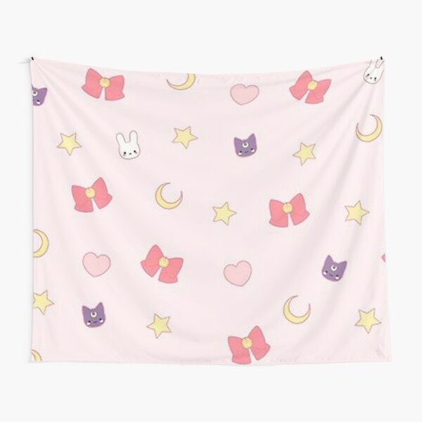 Sailor moon pattern luna Tapestry