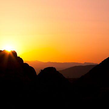Desert Sunset, 49 Palms Oasis Trail by pberggr1