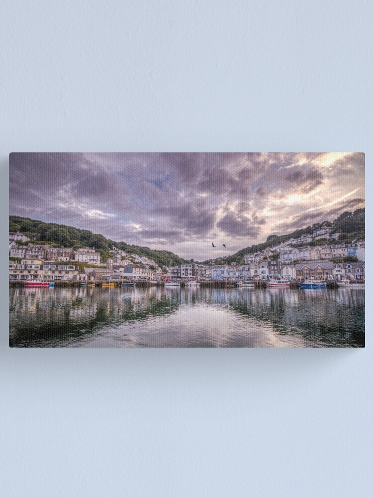Alternate view of Sunset reflections, Looe Canvas Print