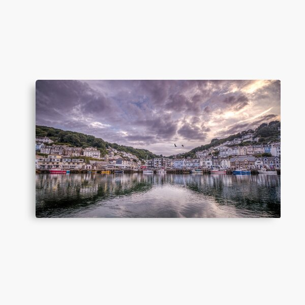 Sunset reflections, Looe Canvas Print