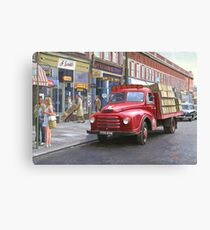 "Morris ""Corona soft drinks"" lorry. Canvas Print"