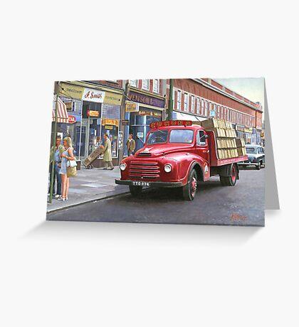 "Morris ""Corona soft drinks"" lorry. Greeting Card"