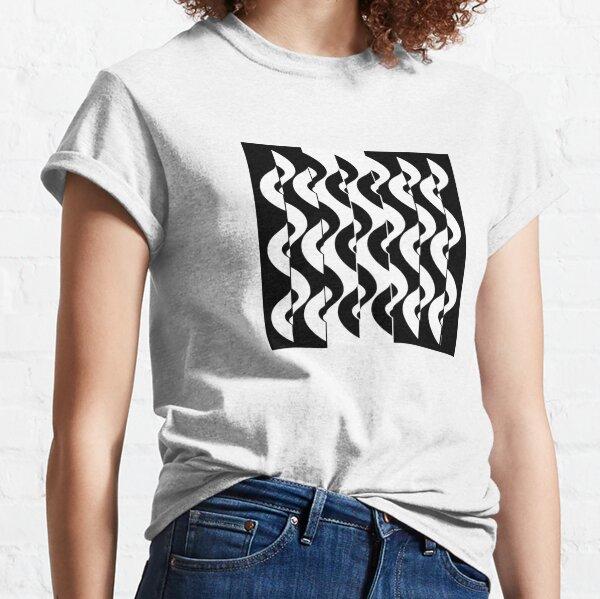 OpArt Waves Classic T-Shirt